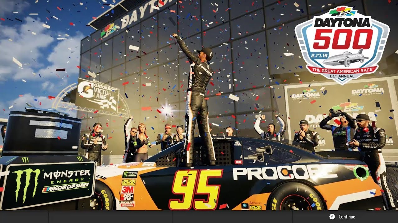 2019 Daytona 500 Victory - NASCAR Heat 3 - Wrecks in Turn 4