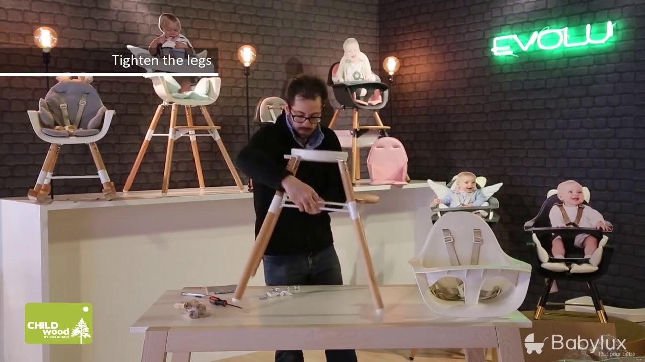 The One Bebe De Luxe chaise haute evolu one.80 de childwood - assemblage