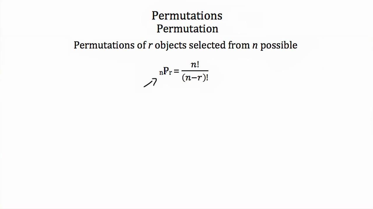 hight resolution of Permutations and Combinations (videos