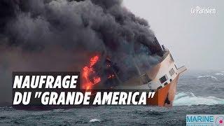 Alerte à la pollution après le naufrage du «Grande America» au large de la Bretagne