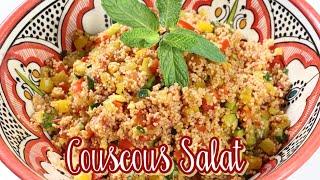Bester COUSCOUS SALAT der Welt  Taboulé  Orientalisch mit Gemüse amp; Minze