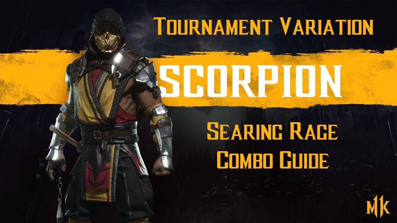 Scorpion Searing Rage Tournament Variation Combo Guide Mortal Kombat 11 Jeux Hyper Fun