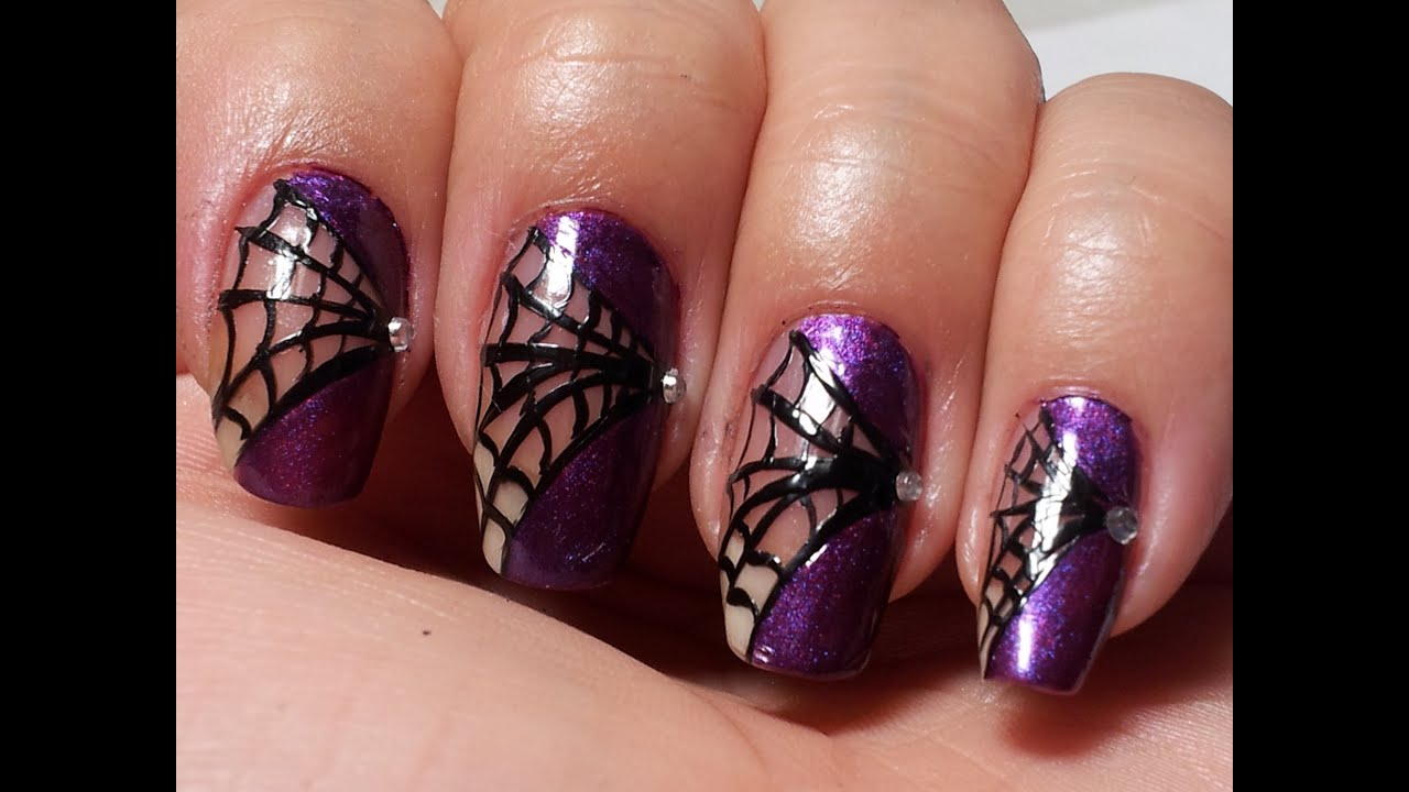 Spider Queen Nails Collaboration w/CreatedbyShelly - YouTube