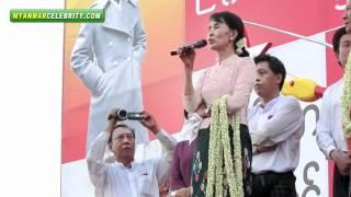 Daw Aung San Suu Kyi's By-election Campaign in  Dagon Port, Yangon