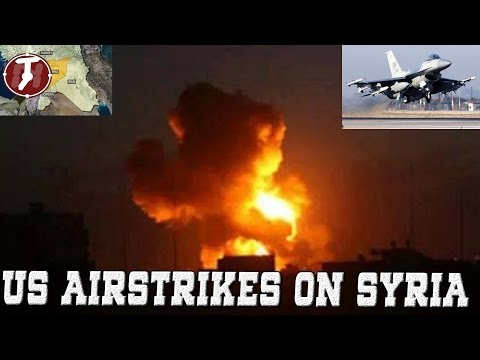 US Airstrikes on Syria - US Conducts airstrike Bombing Airstrikes in Syria Islamic State ISIS