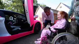 richard hammond grants emilia s rays of sunshine wish to go in a pink lamborghini