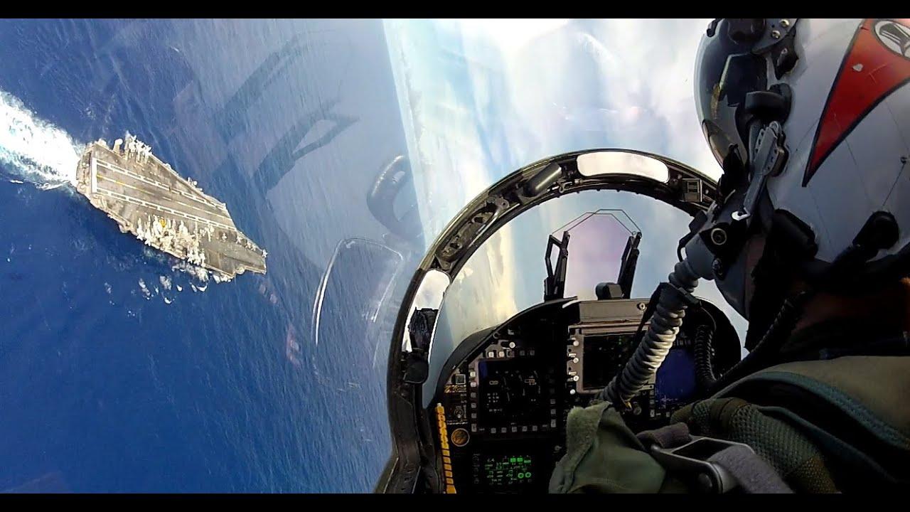 F/A-18 Carrier break and landing