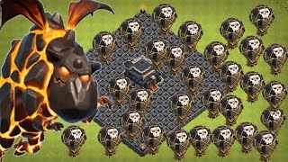 BEST Town Hall 9 (TH9) Clan Wars Attack Strategy - Lava Hounds + Balloons (Clash of Clans)2017