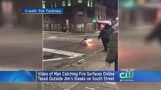 Police Reviewing Video Showing Man Catching On Fire After Being Hit With Taser