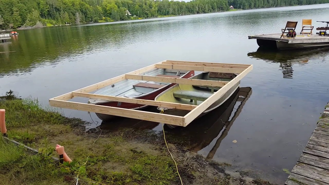 How To Build A Pontoon Boat Out Of 2 Metal Row Boats Part
