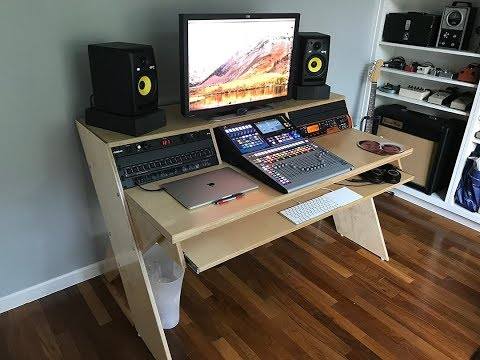 DIY Output Platform Desk w/ angled racks