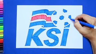 How to draw and color Iceland National Football Team Logo