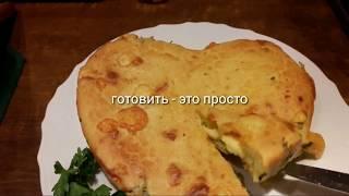 Простейший закусочный пирог- яйцо,мука, сметана
