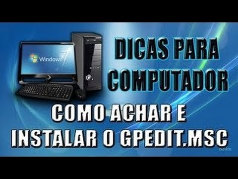 Как установить gpedit msc windows 7
