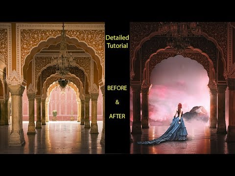 Advanced Photoshop Tutorial | Palace Above Clouds