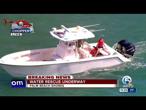Water rescue off Palm Beach Shores