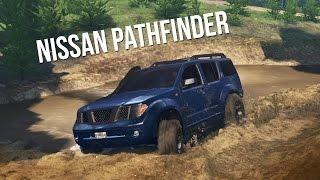 NISSAN PATHFINDER 4x4 OFF-ROAD CHALLENGE! Trails, Mudding, & Hill Climbing! (SpinTires)