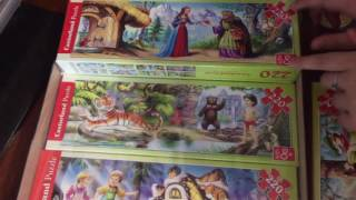 Пазлы для детей картинки из сказок распаковка Castorland