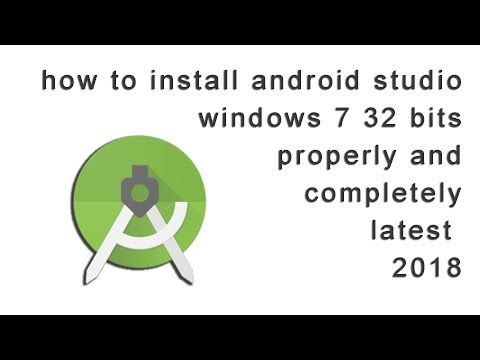 how to install android studio in windows 7 32 bit properly and completely latest 2018