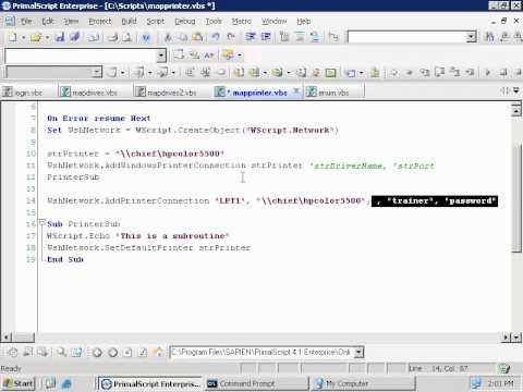 VBScript - WshShell (7c - 9)