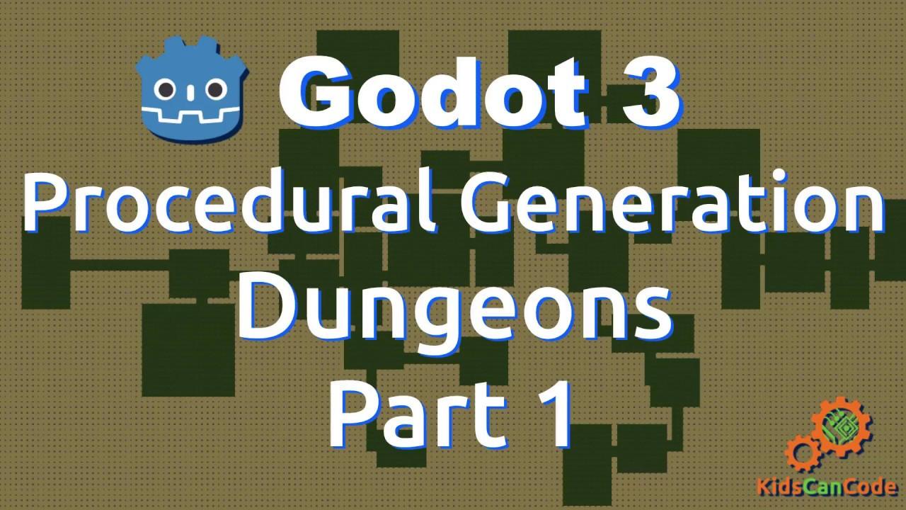 Procedural Generation in Godot: Dungeon Generation (part 1)