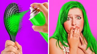 33 UNBELIEVABLE HAIR HACKS, PRANKS AND FAILS || Every Girl Needs To See This