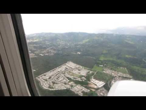 Guatemala City Airport Landing - La Aurora - United 737-800