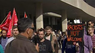Protesters, counter-protesters clash at Toronto rally