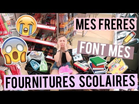 BACK TO SCHOOL I MES FRERES FONT MES FOURNITURES SCOLAIRES ! 😱😭