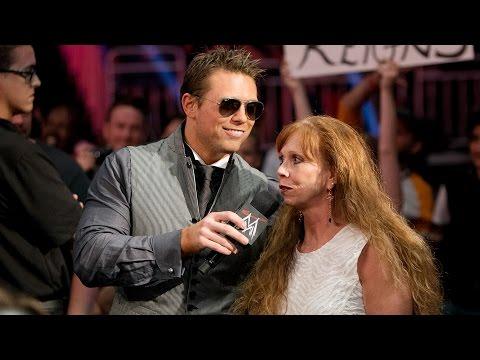 """The Miz's mom embarrasses him on """"Miz TV"""": SmackDown, July 25, 2014"""