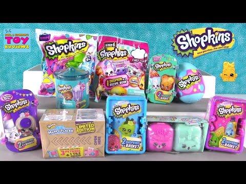 Shopkins Palooza Season 6 5 4 3 2 1 Happy Places Food Fair 2 Pack Opening  PSToyReviews