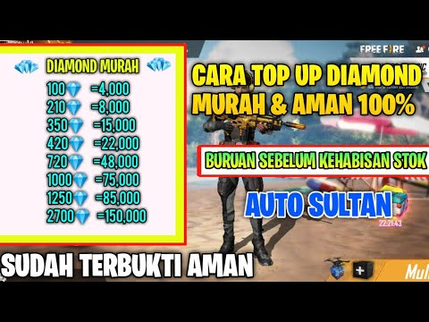 Tempat Top Up Diamond Free Fire Paling Murah Cara Top Up Dm Ff Murah Youtube
