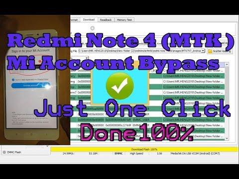 Redmi Note 4 (MTK ) Mi Account Bypass / Mi account Remove / Unlock Mi  Account Done100% Not Re lock by Bd M007