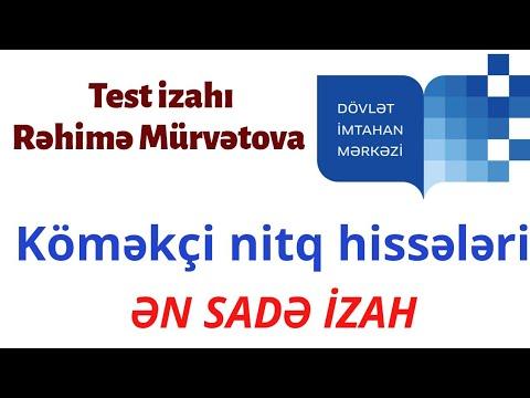 Azərbaycan dili I hissə test toplusu    Köməkçi nitq hissələrinin omonimliyi və sinonimliyi.