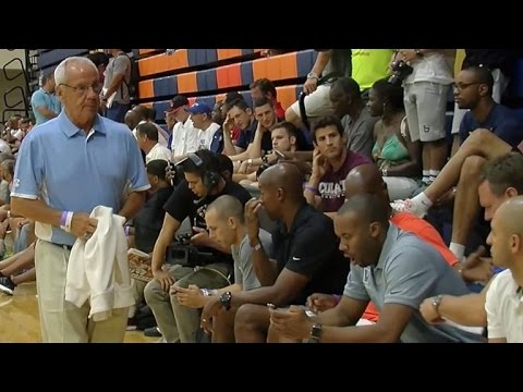 College coaches watch top guard Dennis Smith