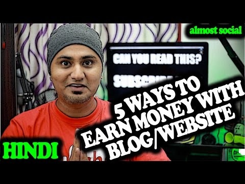 [HINDI] 5 Ways to Earn Money on your Blog or Website