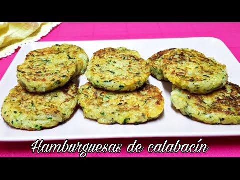 HAMBURGUESAS DE CALABACIN - Tortitas de Calabacín Ricas y saludables