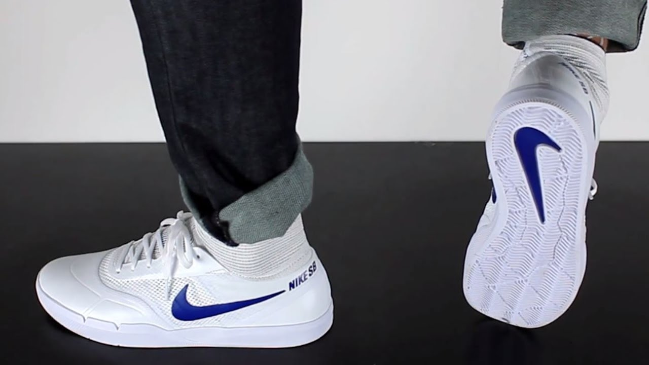 e0d1bfc1166 NIKE SB HYPERFEEL KOSTON 3 white deep royal blue - YouTube