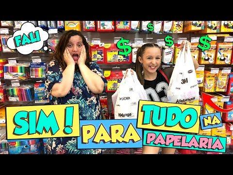 MINHA MÃE DISSE SIM PRA TUDO NA PAPELARIA!