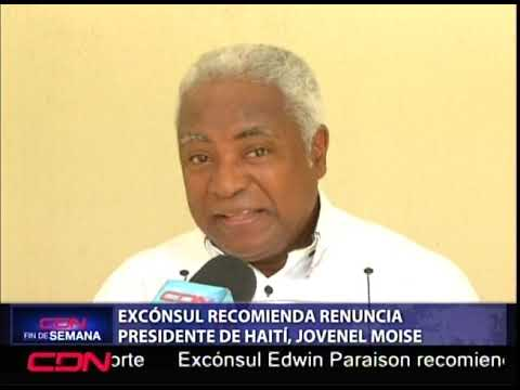 Excónsul recomienda renuncia presidente de Haití, Jovenel Moise