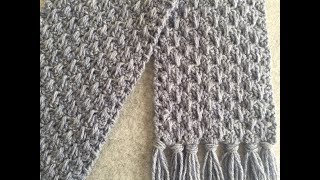 CROCHET  SCARF TUTORIAL ~ Easy Project for Beginners