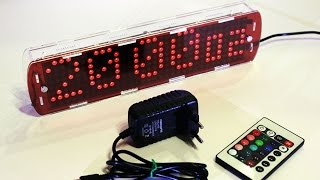 Homemade Large Led Clock With Thermometer