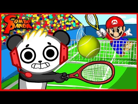 Download Youtube: Mario Tennis Giant Dinosaur Yoshi Let's Play with Combo Panda