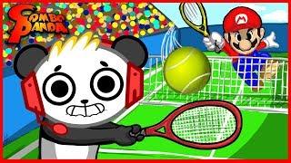 Mario Tennis Giant Dinosaur Yoshi Let's Play with Combo Panda