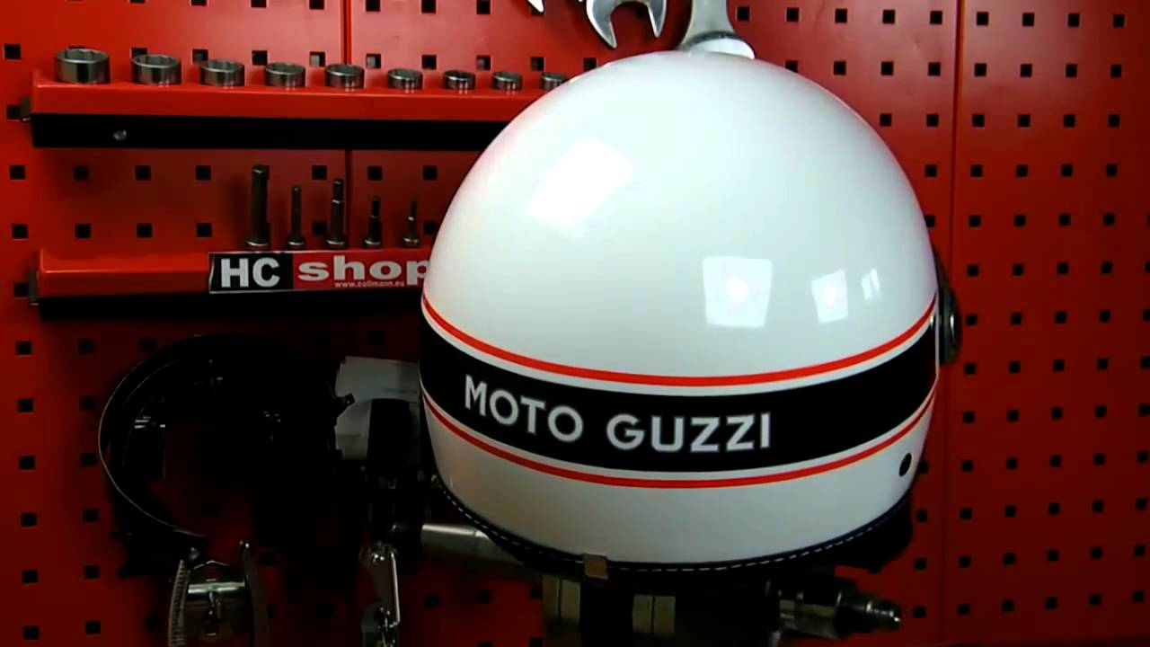 moto guzzi helm v7 classic bekleidung weiss 2011 youtube. Black Bedroom Furniture Sets. Home Design Ideas