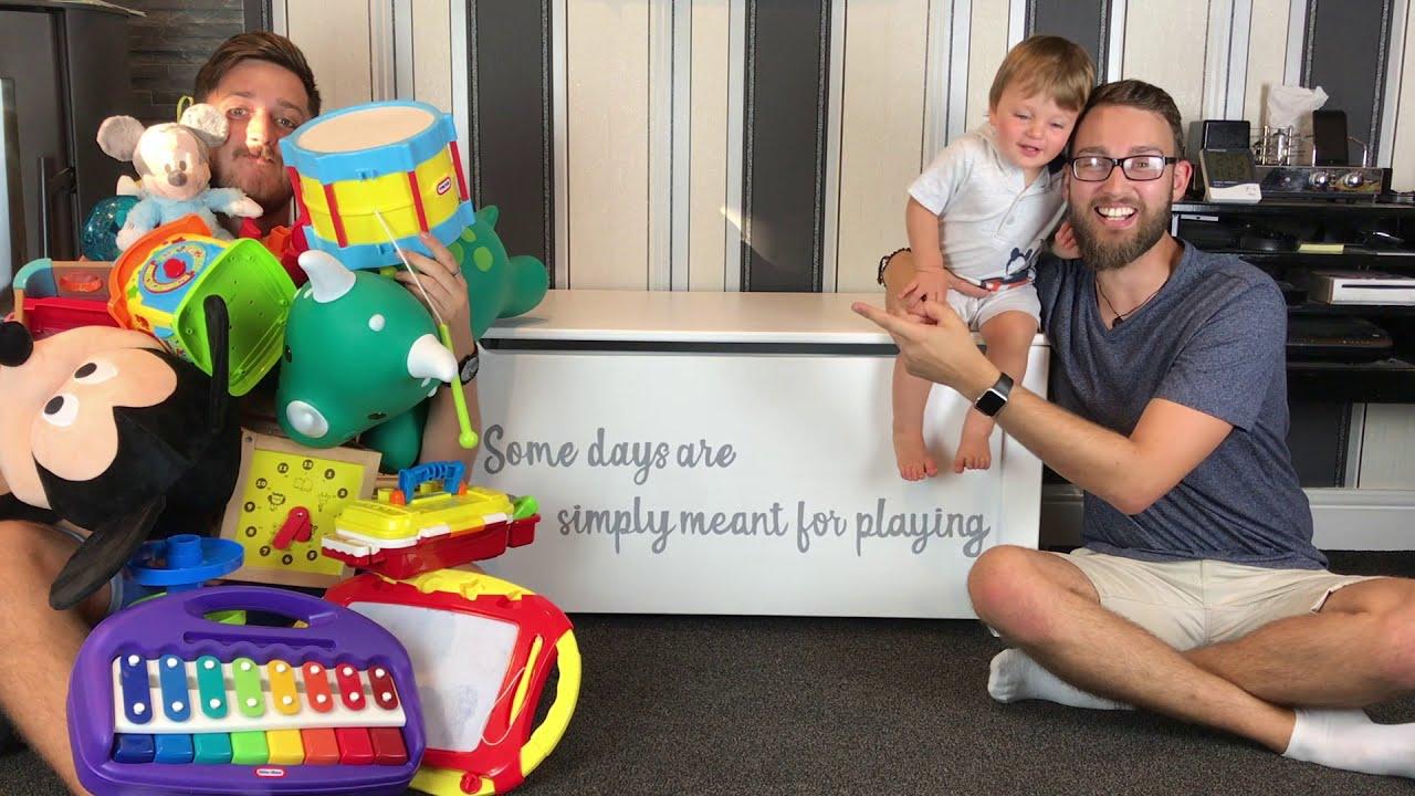 Large Toy Box with Secret Busy Board - DIY Nursery Furniture