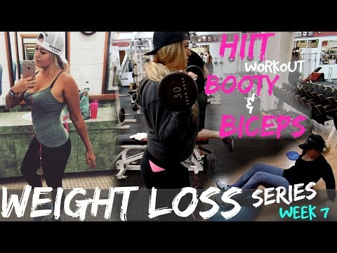 HIIT Workout |Booty & Biceps |Weight Loss Series | Weekly Vlog #7