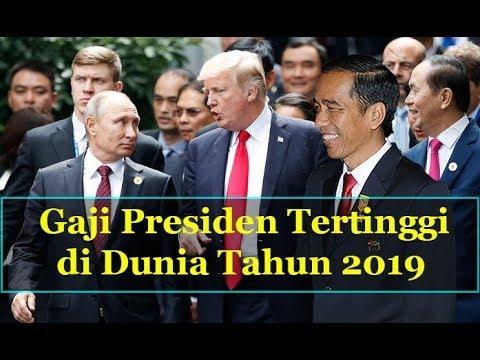 Gaji Presiden 2019 Terbanyak di Dunia | Jokowi Nomer ?