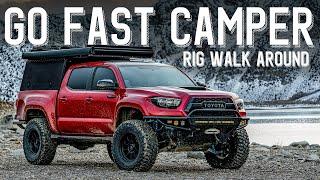 Go Fast Camper Adventure Toyota Tacoma   Rig Walk Around