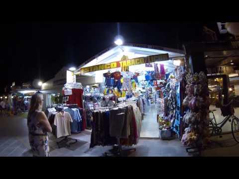 Walk Along The Main Strip At Night  , Lanzarote Puerto Del Carmen August 2014
